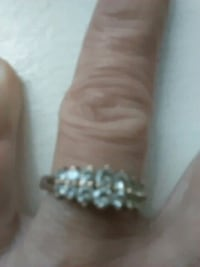 silver and diamond studded ring Fresno, 93706