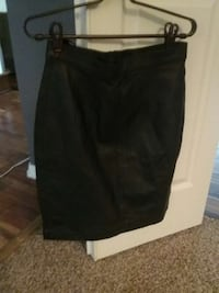 WOMANS BLACK REAL LEATHER MINI SKIRT The Woodlands, 77382