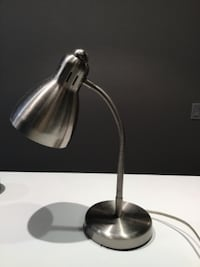 silver and black table lamp 3742 km