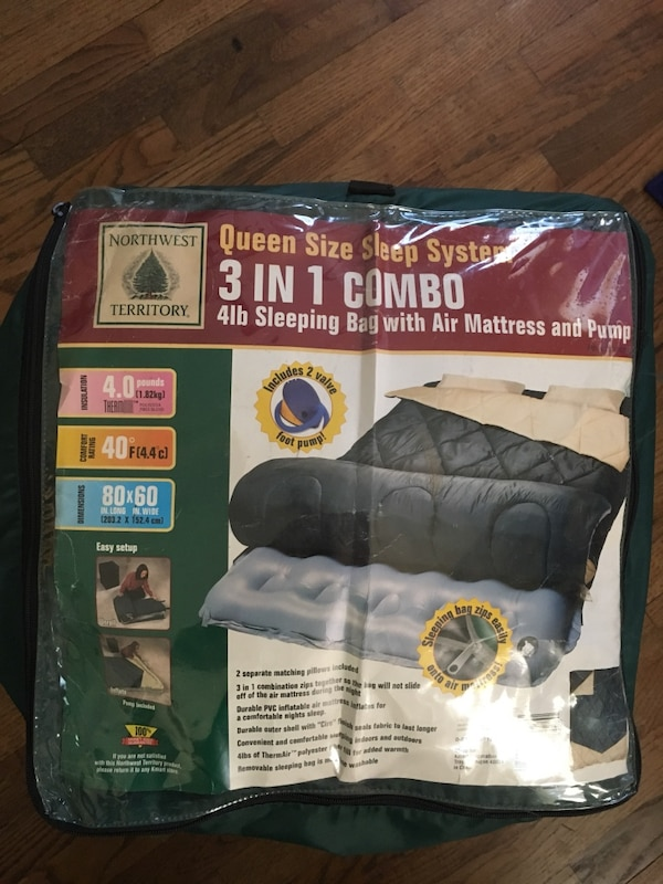 Used Two Person Northwest Territory Queen Size 3 In 1 Combo Sleep