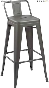 "New In Box Barstool Industrial 30""Low Back Counter Metal Bar Stool 30"""
