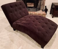 Tufted brown suede chaise lounge Alexandria, 22312