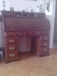 brown wooden display cabinet Oakville