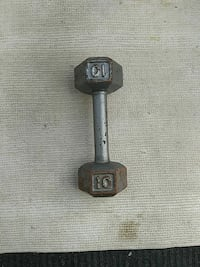 10 KG gray fixed-weight dumbbell Southfield, 48076