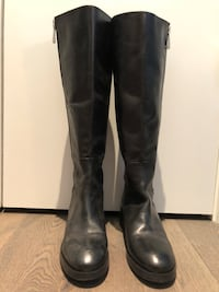 Zara Black Leather Boots Vancouver, V5X 4V4