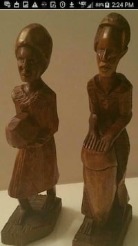 EXOTIC  AFRICAN  WOOD HANDCARVED  STATUES 575 mi