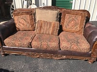 brown and beige floral 3-seat sofa Roanoke, 24019