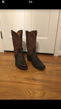 LUCCHESE Genuine Shark Skin Cowboy Boots