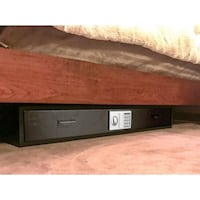 black and brown wooden TV stand 1211 mi