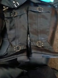 black and gray leather bag Shafter, 93263