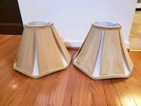 two brown-and-white lamp shades Falls Church, 22046