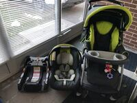 baby's green and black Chicco travel system Toronto, M2J