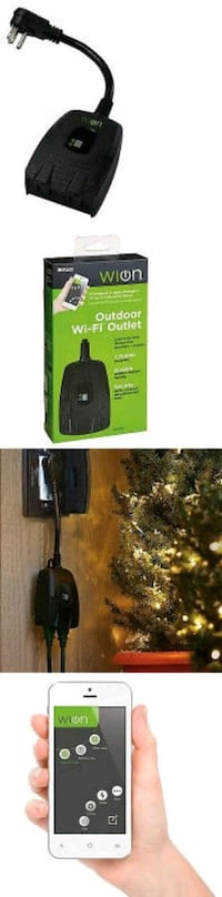 Outdoor Wi-Fi Dual Outlet with Wireless Switch and London, N5W 4C1