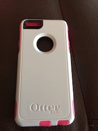White pink otter box iPhone 6 case good con