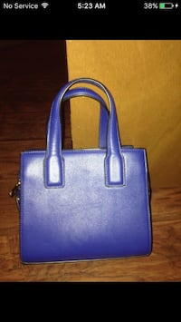 Blue leather forever 21 purse