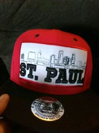 red and white Chicago Bulls fitted cap Saint Paul, 55118