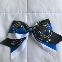 Blue and Black Cheer Bow  Downey, 90242