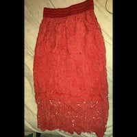 Red Crochet Midi Skirt Surrey, V3W 0T1