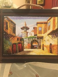 brown wooden framed painting of house Mississauga, L5B 0K4