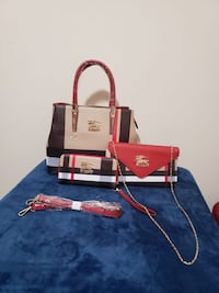 red and black leather tote bag Alexandria, 22311