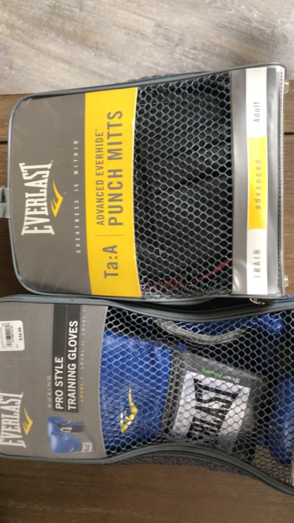 Everlast Training Gloves and Punch Mitts (selling together)