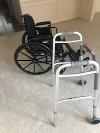 Grey adult walker and black drive brand wheelchair Plymouth charter township, 48170
