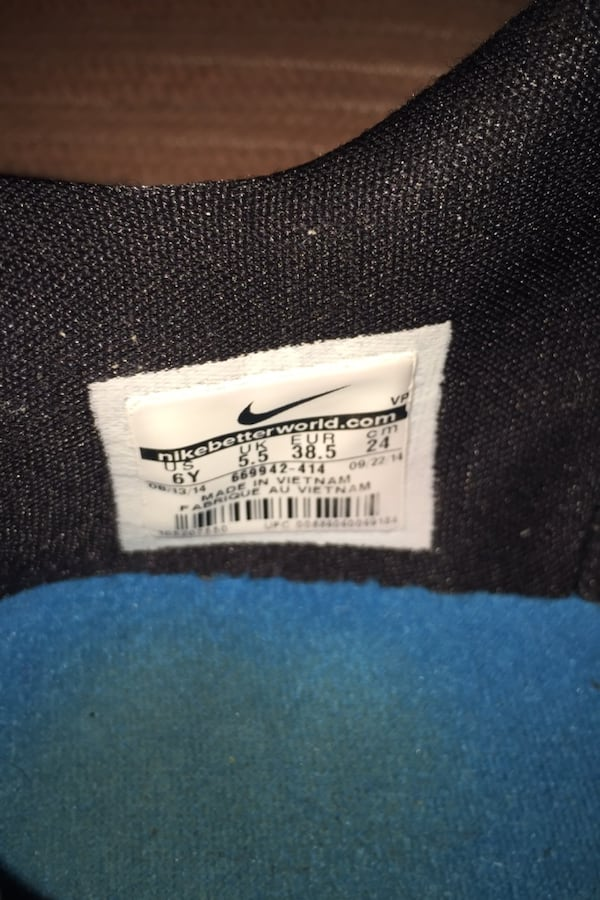2014 NIKE KD VII 7 Clearwater Black Blue Kevin Durant Youth Size 6Y 03870347-b6aa-4eee-bf78-afc3e9e1bb3f