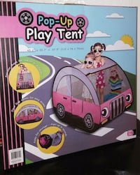 pink Pop-Up play tent box