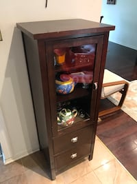 Wooden Display Cabinet with Drawer