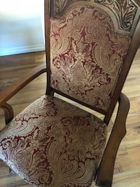 brown wooden framed floral padded armchair Santa Clarita, 91355