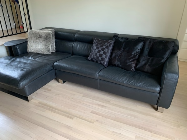 Miraculous Beautiful Black Leather Couch In Excellent Condition Needs A New Home Pabps2019 Chair Design Images Pabps2019Com