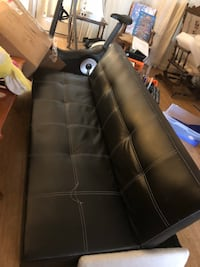 black leather tufted chaise lounge Alexandria, 22306
