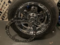 GM 6 lug 20 inch rims set of 4 tires and rims with new beauty rings. Madison, 35758
