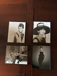 Set of 4 Audrey Hepburn pictures with frame Toronto, M8X 2L2