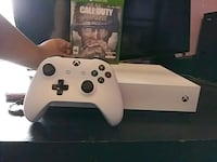 white Xbox One console with controller and game ca Reading, 19604