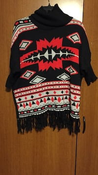 black, red, and white sweater Springfield, 16411