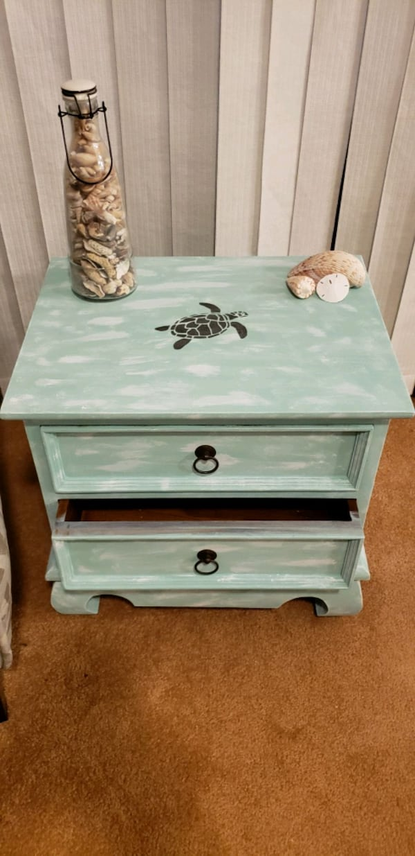 Coastal nightstand/side table $50 obo caa8adf0-233f-4e9c-b21f-25a7bae8c4f6