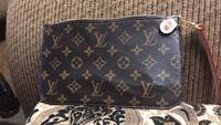 black and brown Louis Vuitton Monogram leather wallet 2232 mi