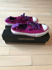 purple and white converse allstar low top sneakers with box size 12...brand new Toronto, M5R 2R8