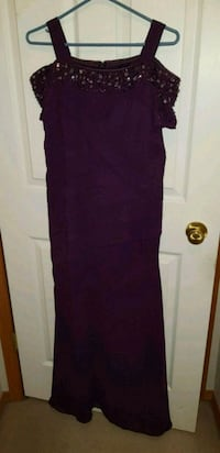 women's purple sleeveless dress