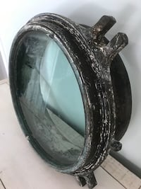 Antique Solid Brass Ship Port Hole Window, boat Maritime Marine Ottawa, K0A