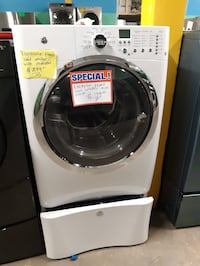 Electrolux front load washer with pedestal