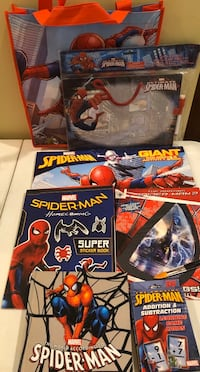 Spider Man gift bag w/ items