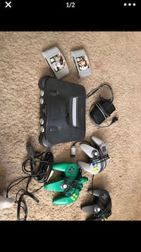 N64, controller and games
