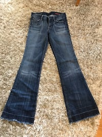 blue-washed whiskered jeans Toronto, M2P 1X9