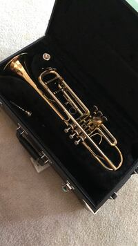 Sterling silver and brass trumpet from Jupiter that comes with two mouth pieces and in a trumpet case Marietta, 30066
