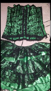 Green lace corset and skirt Portland, 97229