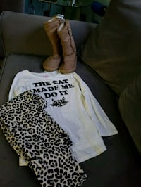 New with tags childrens place outfit and boots 407 km