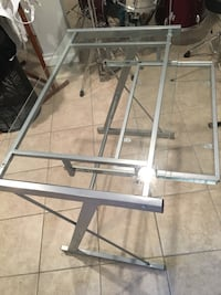 gray metal framed glass top table Silver Spring, 20910