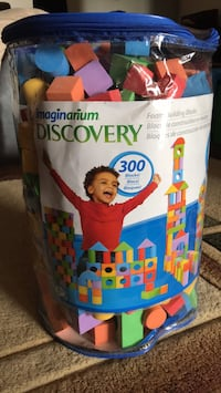 Gently used Imaginarium Discovery 300 foam blocks Mississauga